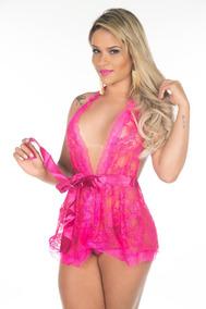 Camisola Luxo - Renda Transparente Pimenta Sexy Sensual Top