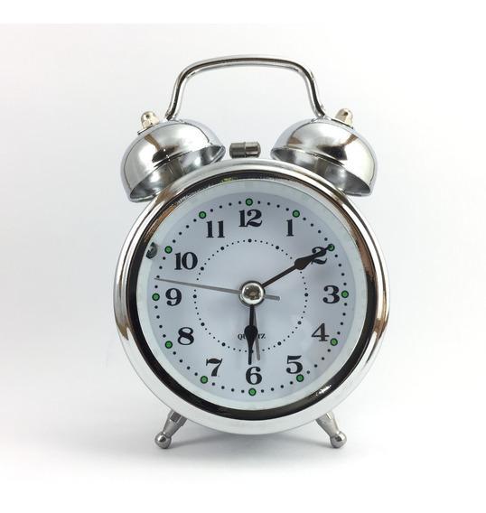 Relógio Despertador Pilha Retro Antigo Sino Muito Alto