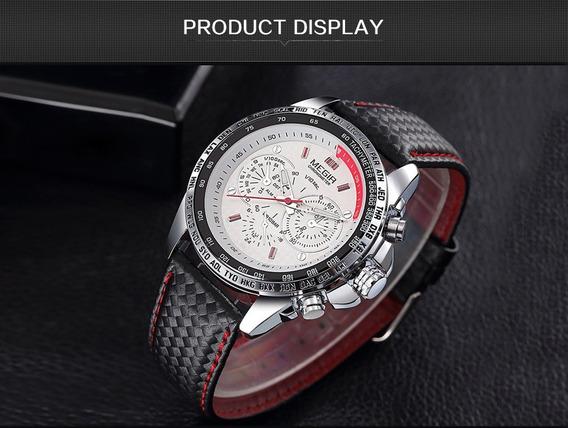 Relógios Megir Unissex Luminosos Quartzo Esporte Clássico