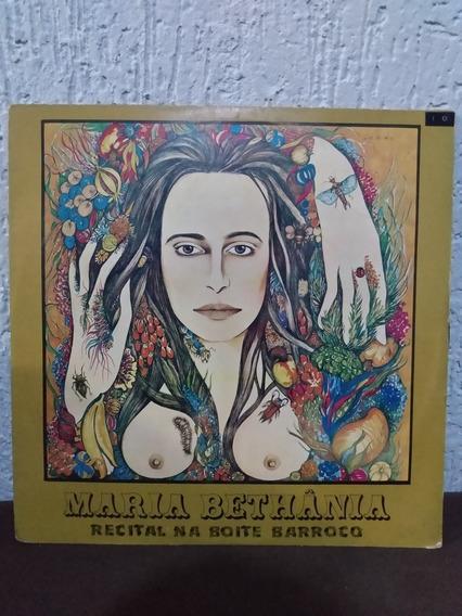 Lp Maria Bethânia - Recital Na Boite Barroco
