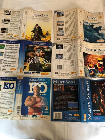 Master System : Encartes Originais Tectoy Vendo A Unidade!!!