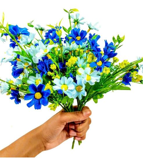 6 Buquês Flor Do Campo Flores Artificiais Artificial Pequeno
