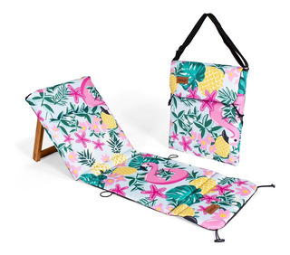 Reposera Plegable Kids Chilly Diseño Flamingo
