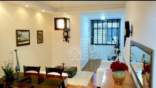 Apartamento Com 2 Dormitórios À Venda, 82 M² Por R$ 510.000,00 - São Domingos - Niterói/rj - Ap1826