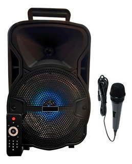 Parlante Bluetooth Potente Con Microfono Karaoke Y Luces