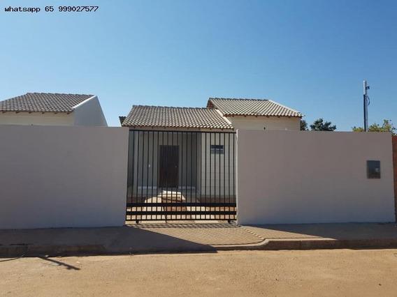 Casa Para Venda Em Várzea Grande, Jacarandá, 2 Dormitórios, 1 Banheiro, 2 Vagas - 158_1-1284075