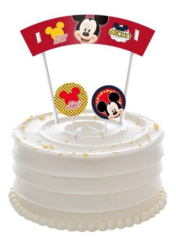 Imagem 1 de 3 de Topo De Bolo De Papel Mickey