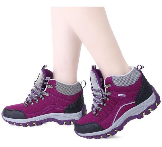 Tenis Para Caminar Con Agujetas P/mujer, Bloque De Colores