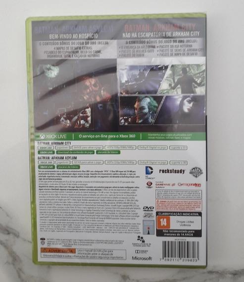 Jogo Batman Arkham Asylum + Arkham City - Xbox 360 Fisica