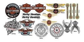 Adesivos Harley Davidson Kit 20 Unidades Vinil