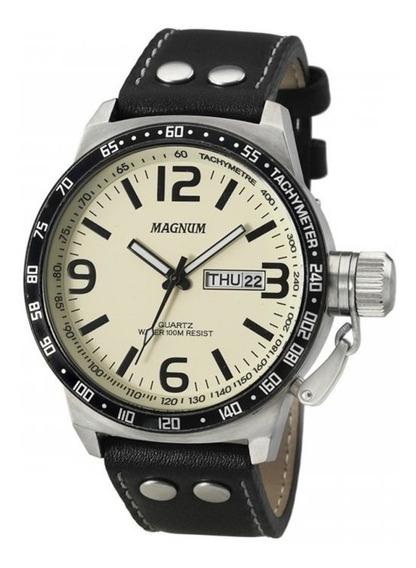 Relógio Magnum Masculino Ma31542y Aço Grande Analógico