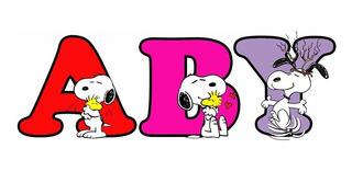 Imán Letras Individuales Snoopy