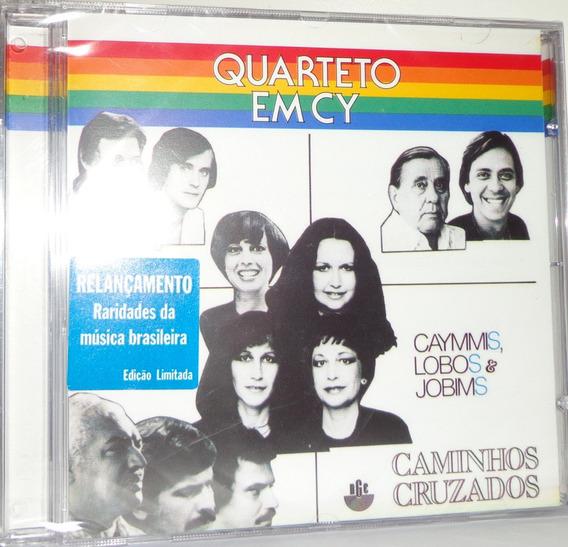 Cd Quarteto Em Cy - Caminhos Cruzados - Caymmis Lobos Jobims