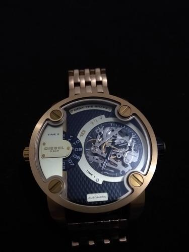 Relógio Masculino Diesel Automático Com Pulseira Dourada