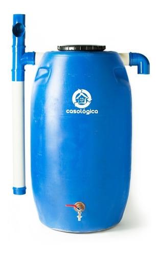 Kit Mini Cisterna 240l - Bombona Tambor Para Coleta De Chuva