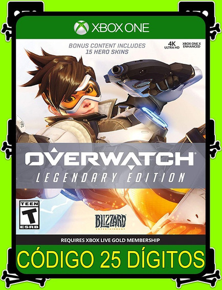 Overwatch Legendária Xbox One - 100% Original (25 Dígitos)