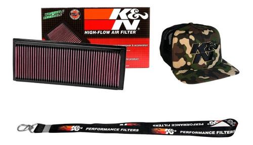 Filtro De Ar Esportivo Kn Inbox Jetta Fusca Tsi A3 200cv 211cv 33-2865 + Boné K&n Brinde