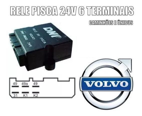Rele Pisca 24v 6 Terminais Volvo Caminhão Ônibus Marcopolo