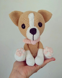 Amigurumi Pug Dog, French style crochet Pug. Dog crochet plushie ... | 320x256