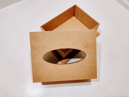 Imagem 1 de 4 de Caixa Porta Lenço/organizador Simples Em Mdf.