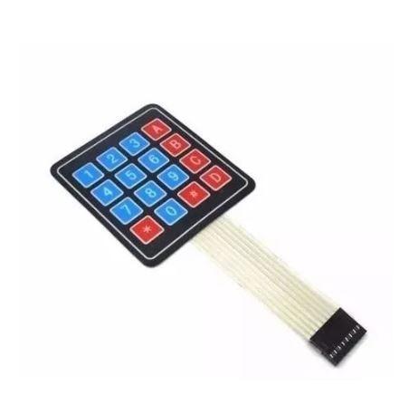 Teclado De Membrana Matricial 4x4 16 Teclas Arduino,pic Avr