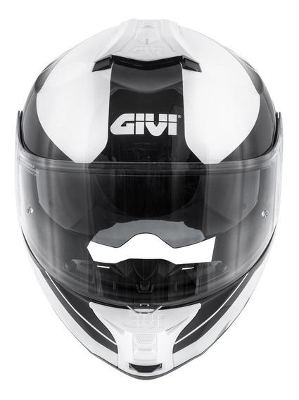 Capacete Givi X21 Globe Branco / Preto 60 L