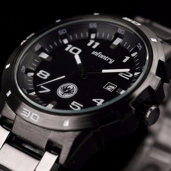 Relógio Masculino Militar Preto Alta Qualidad E-stil0 Orient