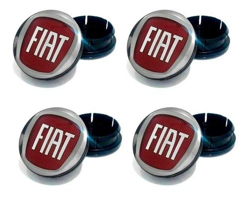 Imagem 1 de 3 de 4 Calota Miolo Tampa Centro Roda Fiat Vermelho Argo Cronos