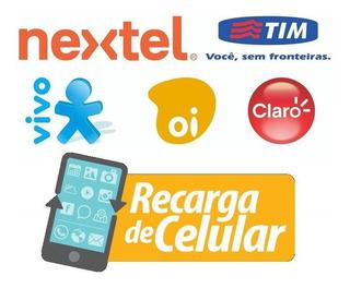 Recarga Celular - Vivo, Tim, Claro E Oi - R$ 20,00 Crédito