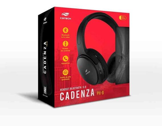 Fone Sem Fio Bluetooth Cadenza Ph-b-500bk 5.0 C3tech