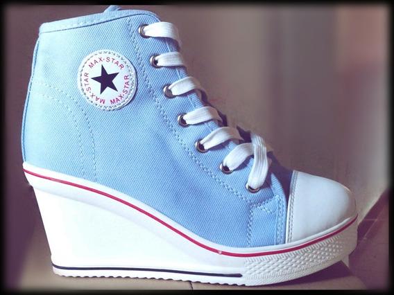Tênis Sneaker Salto Lona Max Star