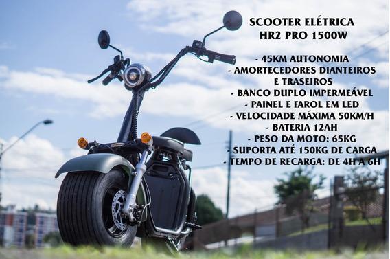 Scooter Elétrica Hr2 Pro 1500w Citycoco 3pluscoco Ecologica