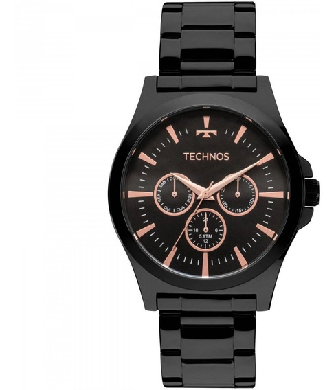 Relógio Masculino Technos 6p29ajl/4p Aço Preto