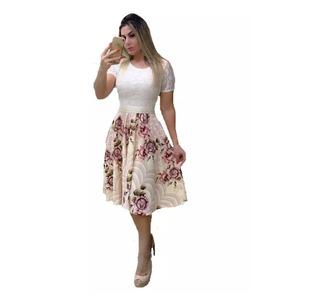 Vestido Midi De Noiva Casamento Civil Luxo Midi C/ Brinde