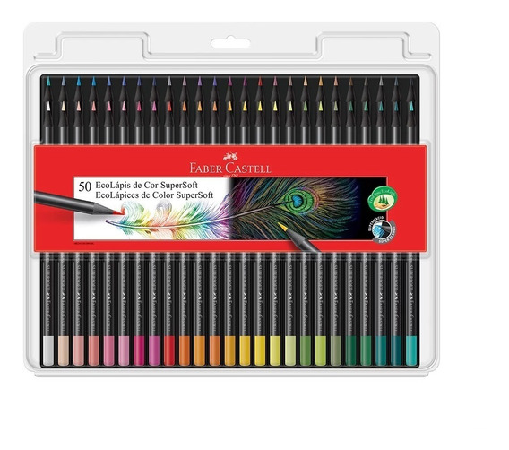 Lapis De Cor Faber-castell 50 Cores Supersoft 120750soft