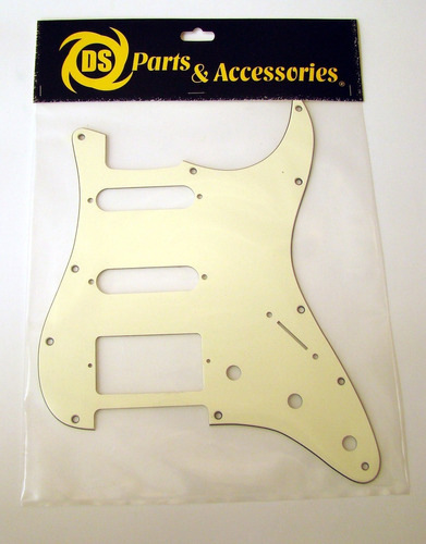 Pickguard Tricapa Stratocaster Hss Ds Parts Vin Cream Ds-a30