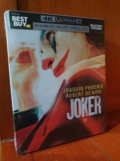Joker Steelbook 4k Uhd + Bluray + Dc Nuevo Phoenix, De Niro
