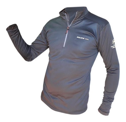 Remera Camiseta Termica Hombre Medio Cierre Cuello Alto Primera Piel Sky Deporte Trekking Runnig  Quilmes Oferta