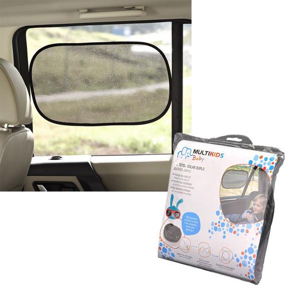 2 Protetores Solar Carro Infantil Proteção Multikids Bb076