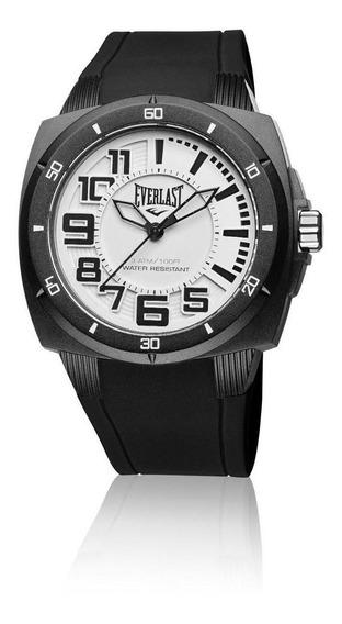 Relógio Pulso Everlast Masculino Esporte Silicone Preto E675
