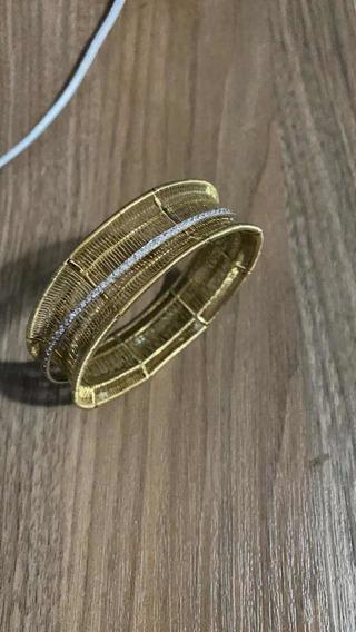 Bracelete Em Ouro18k Com Brilhantes(diamante)