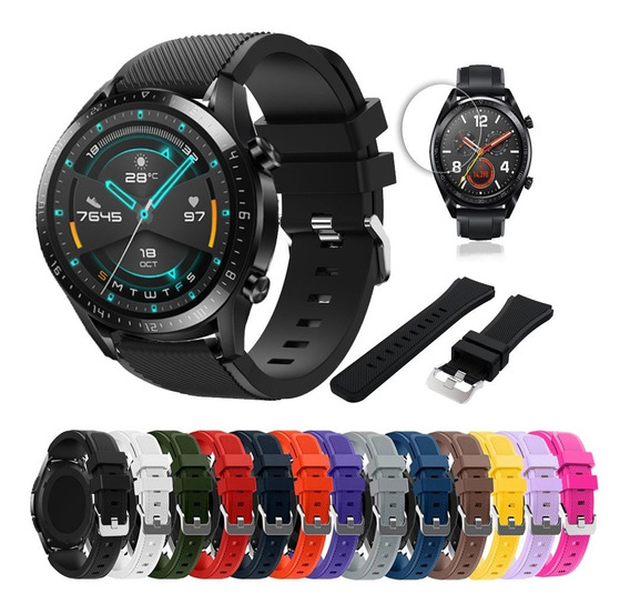 Kit 3 Correas Sport Silicon Huawei Watch Gt 2 46mm Mica