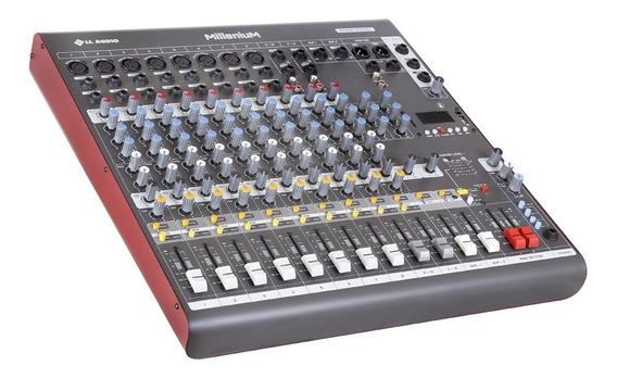 Mesa De Som 12 Canais Ll Audio Millenium M1202d 2 Auxiliares