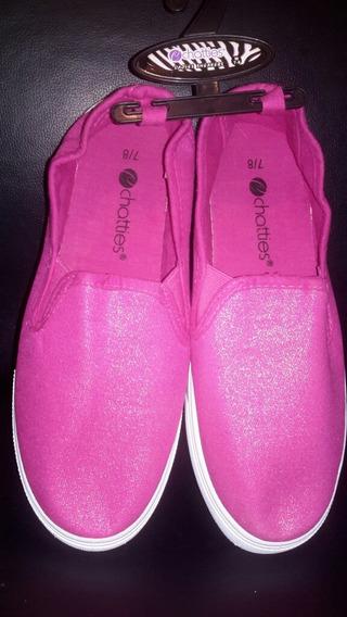Zapatos Gomas Dama Chatties Sneakers Tall 37,5 Fucsia