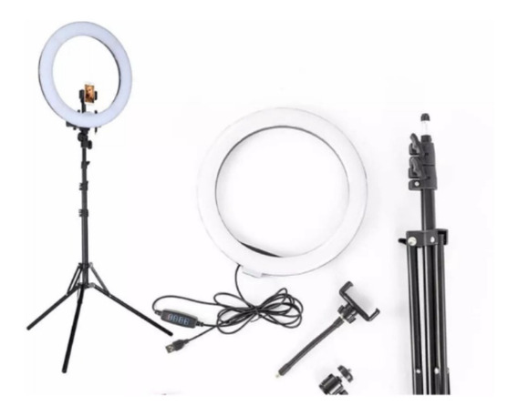 Aro De Luz Led Para Fotografia, Make Up Con Paral Tripoide