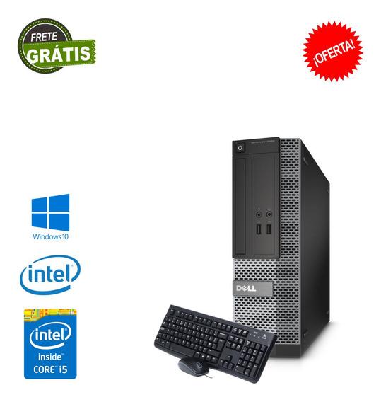 Pc Desktop Dell Core I5 8gb Ram Ssd 120gb Win 10 Brinde Nova