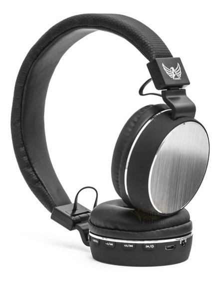 Fone De Ouvido Headphone Bluetooth Mp3 Rádio Fm Celular Cabo