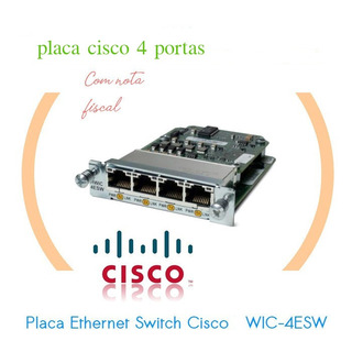 Placa Cisco Wic 4esw Interface Etherswitch Novo C/ Nf
