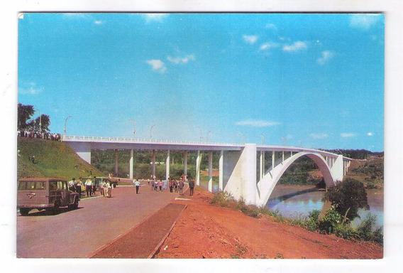 Postal Foz Do Iguaçu Ponte Rio Parana. Carro - Rural.