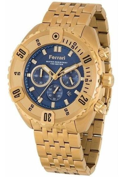 Relógio Ferrari Gold Masculino - Fer-7303